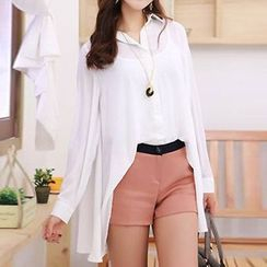 Rocho - Long-Sleeve Chiffon Blouse