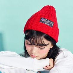 KIITOS - 貼布繡羅紋無邊帽