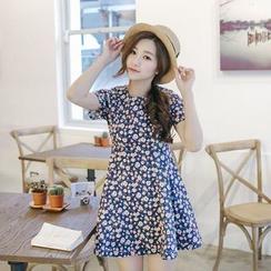 Tokyo Fashion - Short-Sleeve Floral Dress