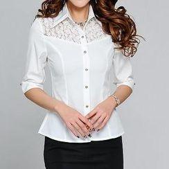 Caroe - Elbow-Sleeve Chiffon Shirt