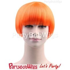 Party Wigs - PartyBobWigs - Party Short Bob Wigs - Orange