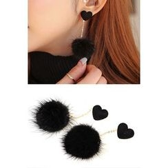 migunstyle - Faux-Fur Earrings