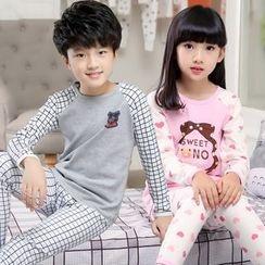 LAPIN - Kids Pajama Set: Long-Sleeve Top + Pants