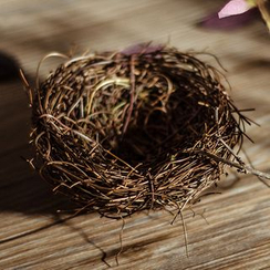 VEYIA - Rattan Bird Nest Basket