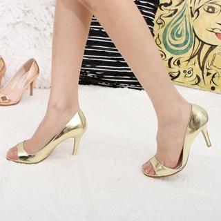 77Queen - Metallic Heel Sandals