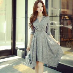Dabuwawa - Striped A-Line Dress