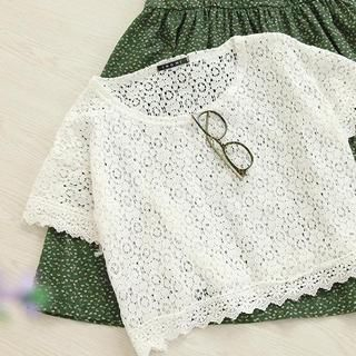11.STREET - Lace Cropped Top