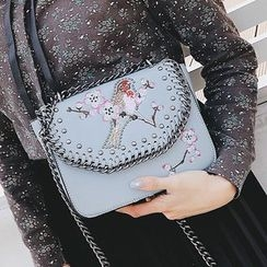 Youshine - Embroidered Crossbody Bag