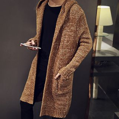 Seoul Boy - Marled Hooded Cardigan
