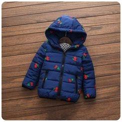 Rakkaus - Kids Hooded Padded Embroidered Zip Jacket