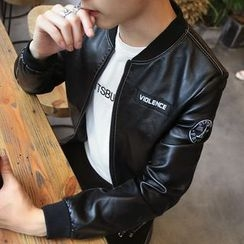 JORZ - Zip Faux Leather Jacket