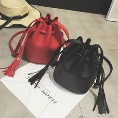 Secret Garden - Faux Leather Bucket Bag