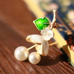 MISSTYLE - Faux Pearl Flower Brooch