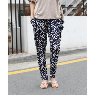 DANI LOVE - Patterned Baggy Pants