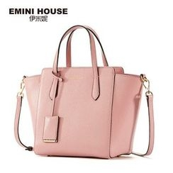 Emini House - Two Way Genuine Leather Tote Bag