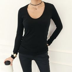 DANI LOVE - Scoop-Neck Slim-Fit T-Shirt