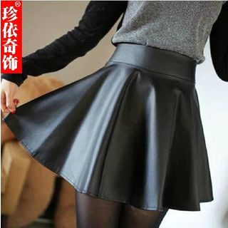 Jenny's Couture - Faux Leather Mini Skirt