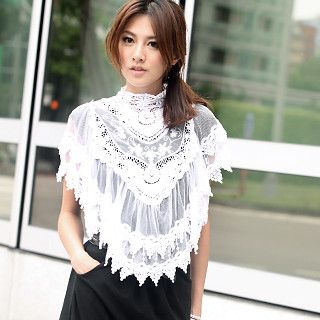 59 Seconds - Crochet-Trim Lace Cape