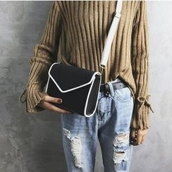 Lizzy - Faux-Leather Contrasted Mini Shoulder Bag