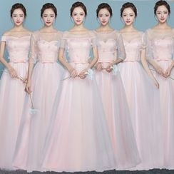 MSSBridal - Short/ Elbow/ 3/4 Sleeve Bridesmaid Dress