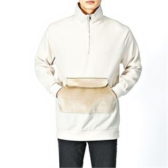 THE COVER - Mock-Neck Anorak Pullover