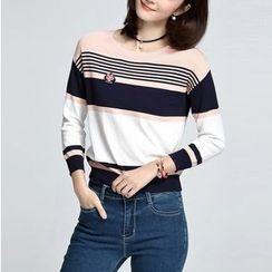 Sentubila - Striped Knit Pullover
