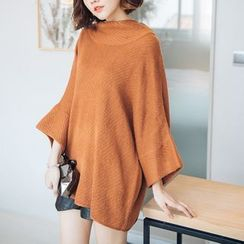 Tokyo Fashion - Funnel Neck Bell-Sleeve Tunic