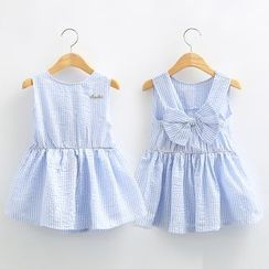 Seashells Kids - Kids Bow Detail Striped Sleeveless Dress