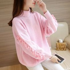 Cotton Candy - Fringe Thick Sweater
