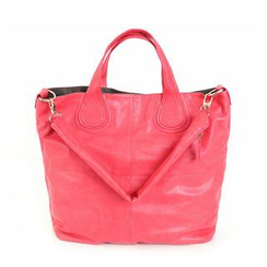 REDOPIN - Faux-Leather Tote with Shoulder Strap