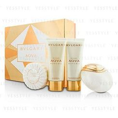 Bvlgari - Aqva Divina Coffret: Eau De Toilette Spray 65ml/2.2oz + Body Lotion 100ml/3.4oz + Shower Gel 100ml/3.4oz + Soap 150g/5oz
