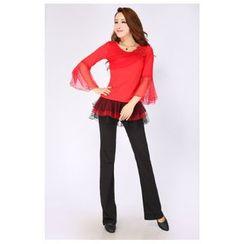 AUM - 拉丁舞套裝: 上衣 + 短裙 / 長褲