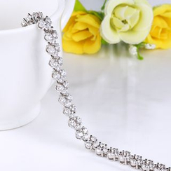 Zundiao - Sterling Silver Rhinestone Bracelet