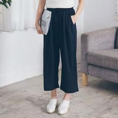 Tokyo Fashion - Cropped Wide-Leg Pants