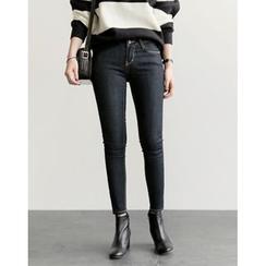 UPTOWNHOLIC - Stitched Skinny Jeans