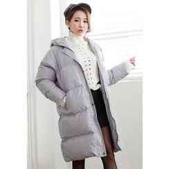 Dalkong - Hooded Long Puffer Coat