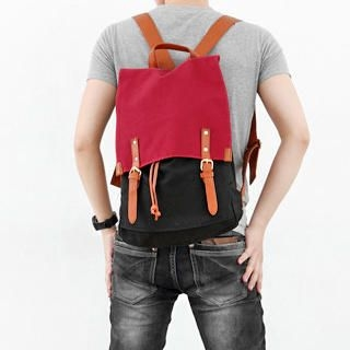 MURATI - Color-Block Canvas Backpack