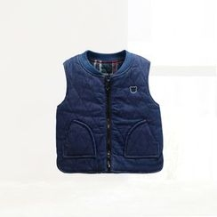 ciciibear - Kids Embroidered Denim Vest