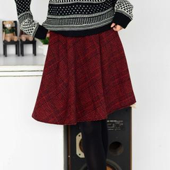59 Seconds - Plaid A-Line Skirt