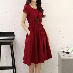 Romantica - Short-Sleeve A-Line Dress