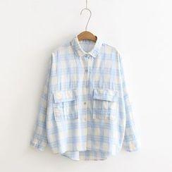 Tangi - Plaid Panel Shirt