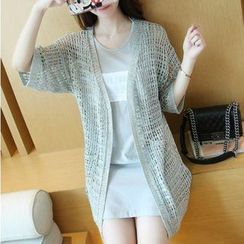 anzoveve - Loose Knit Long Cardigan