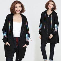Taragon - Print Fleece-lined Hooded Jacket