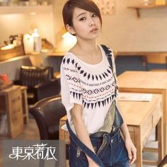 Tokyo Fashion - Short-Sleeved Print T-Shirt
