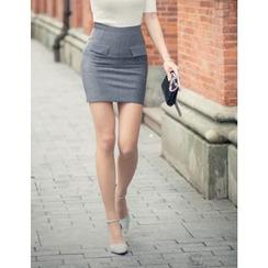 GUMZZI - Knit Miniskirt