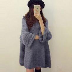 Trinie - 纯色粗织毛衣连衣裙