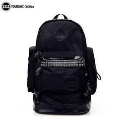 Fourone - Appliqué Studded Nylon Backpack