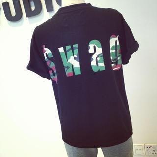 QZ Lady - Camo Letters T-shirt