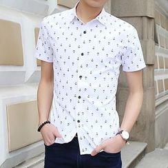 Evzen - Patterned Short-Sleeve Shirt