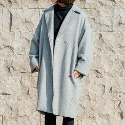 Frontline - Notched Lapel Oversized Coat